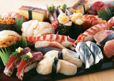 お魚屋さんのお寿司